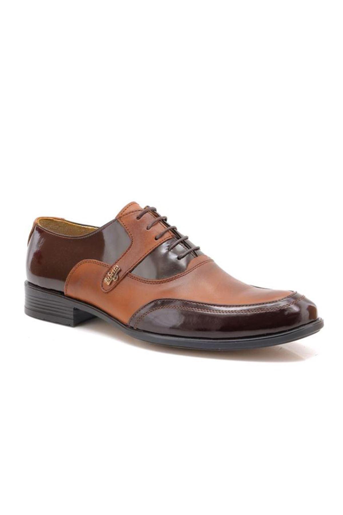 Sancappo Taba Klasik Hakiki Deri Günlük Ayakkabı