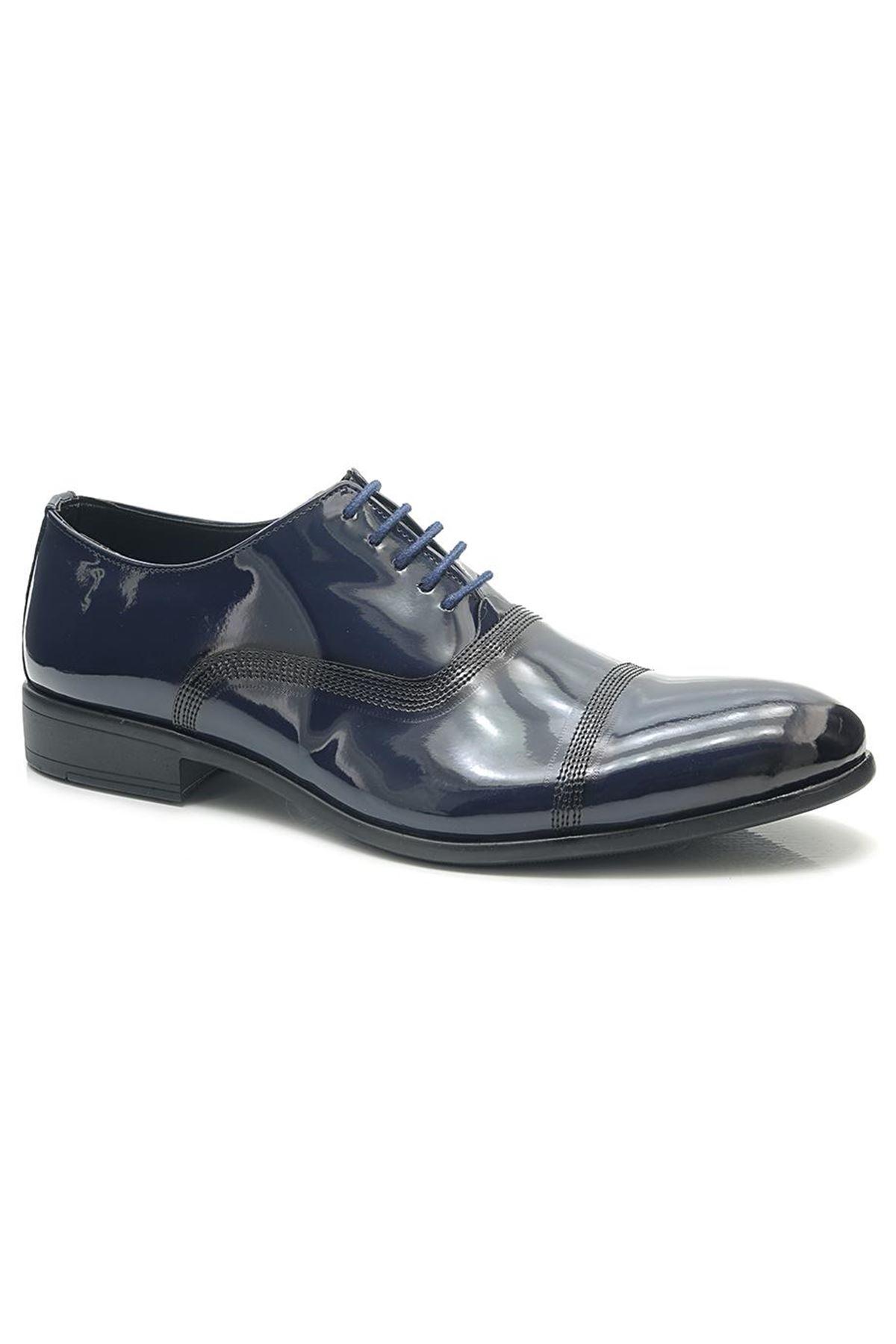 Tamboga E1751R Koyu Lacivert Rugan Klasik Erkek Ayakkabı